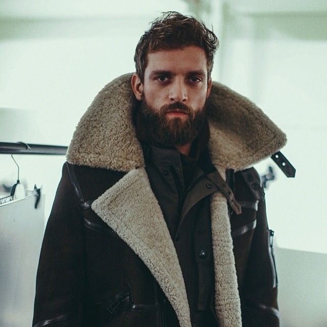 Beard lammy coat fashion Style tumblr hair men