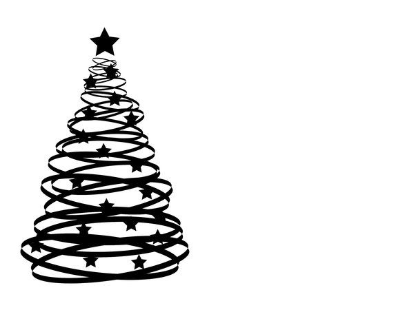 Free Christmas Silhouette Patterns Abstract Xmas Tree 2 An Abstract Christmas Tree Silhoue Christmas Tree Sketch Christmas Tree Clipart Black And White Tree