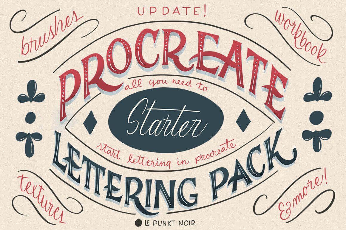 Download Procreate Lettering Starter Pack - only $9!   Lettering ...
