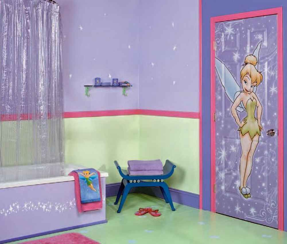 Toddler bedroom girls disney theme girls room for Girls bathroom ideas