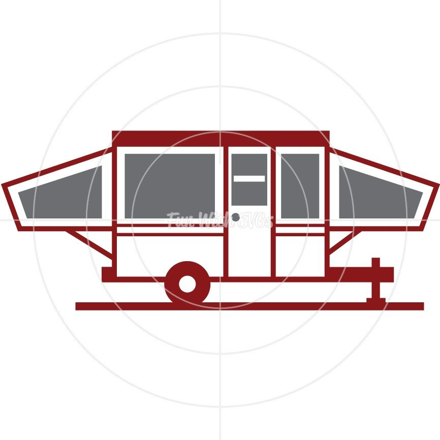 Pop-Up-Camper - SVG Cut File, High Resolution Printable Graphics and ...