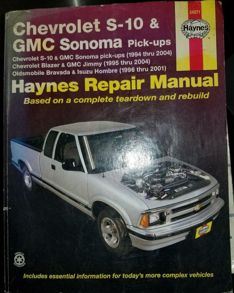 Repair Manual Haynes 24071 Chevrolet GMC Sanoma S-10 Chevy  #HaynesPublications