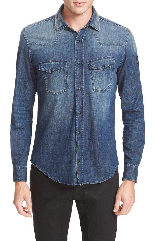9cd9baa903d Belstaff Belstaff Somerford Denim Shirt available at  Nordstrom ...