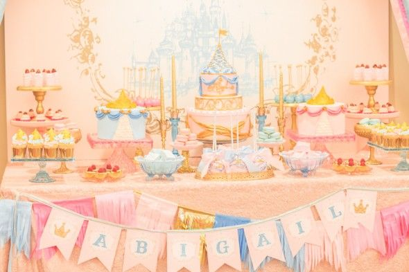 Sleeping Beauty Inspired Dessert Table by Minted and Vintage
