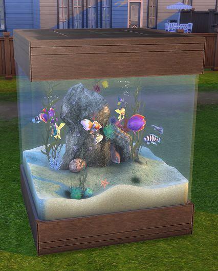 Sims 2 to 4 60 Gallon Aquarium Sims 4 pets, Sims 4