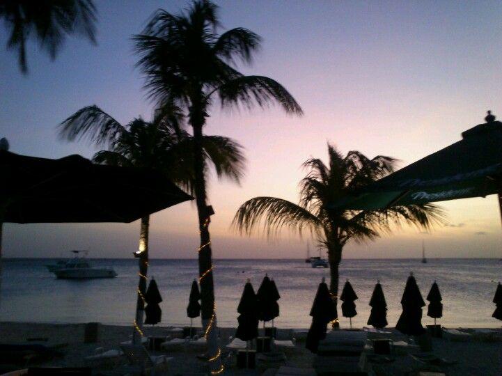Sunset At Nikki Beach In Aruba