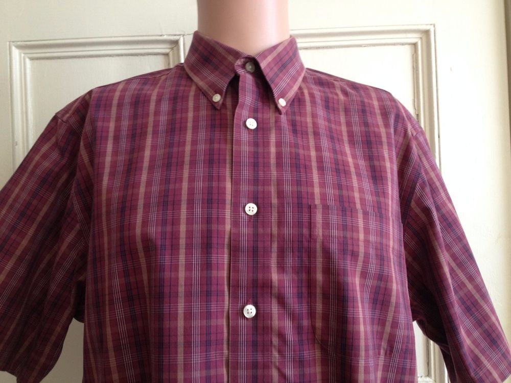 Eddie Bauer Mens Shirt Size M Short Sleeve Sz Medium