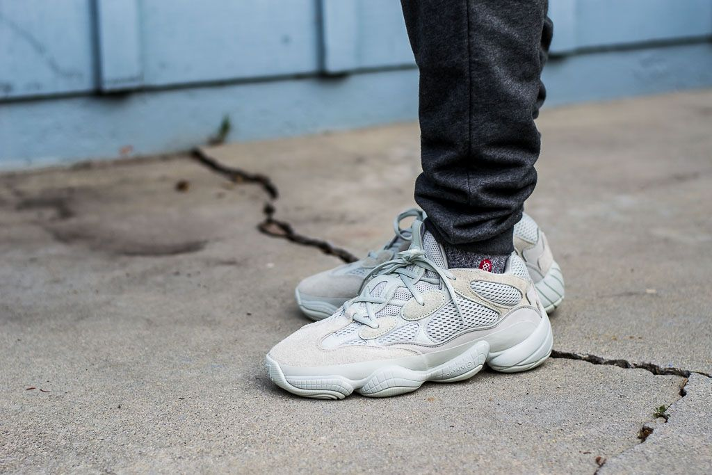 Adidas Yeezy 500 Salt On Feet Sneaker Review  6bbb11663