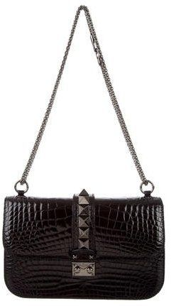 20a8ac7f16c Valentino Alligator Medium Glam Lock Noir Bag w/ Tags | The ...