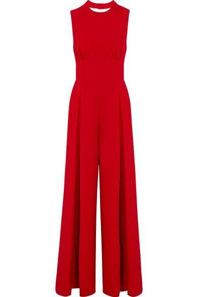 9334b250b2e Emilia Wickstead - Ethel Wool-crepe Jumpsuit - Crimson