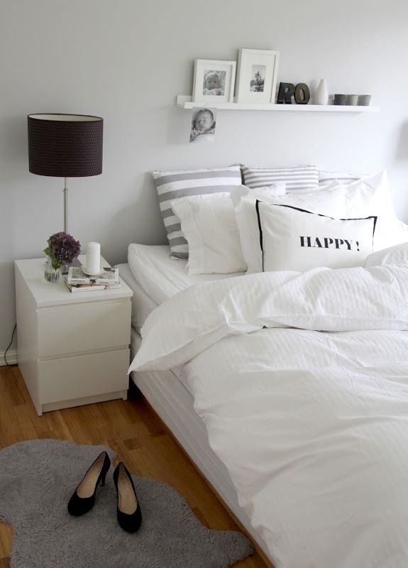 I Like The Wall Color  My Dream House  Pinterest  Wall Colors Stunning White Comforter Bedroom Design Ideas Decorating Inspiration