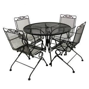 mobile patio dining furniture iron