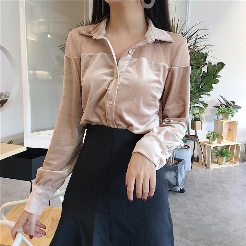 Lawzl Womens Contrast Color O-Neck Long Sleeve Blouse T-Shirt Autumn Holiday Tops