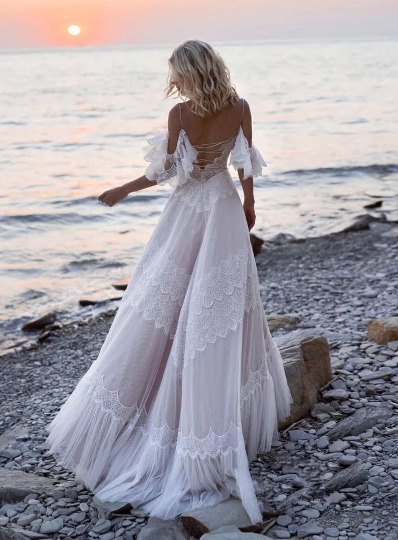 WITCH Calliste Bride Beach Wedding Dress Boho Dress   Etsy ...