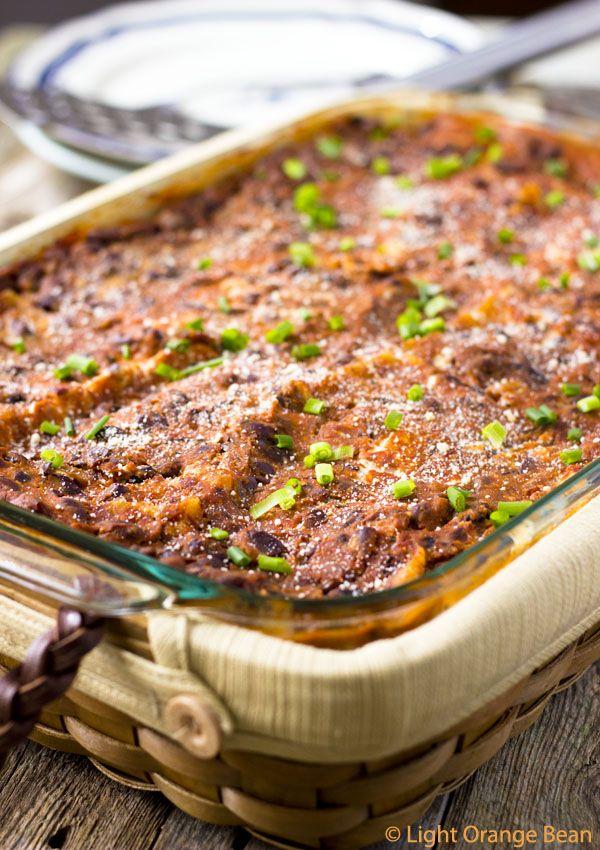 Black Bean Vegan Lasagna HealthyAperture.com