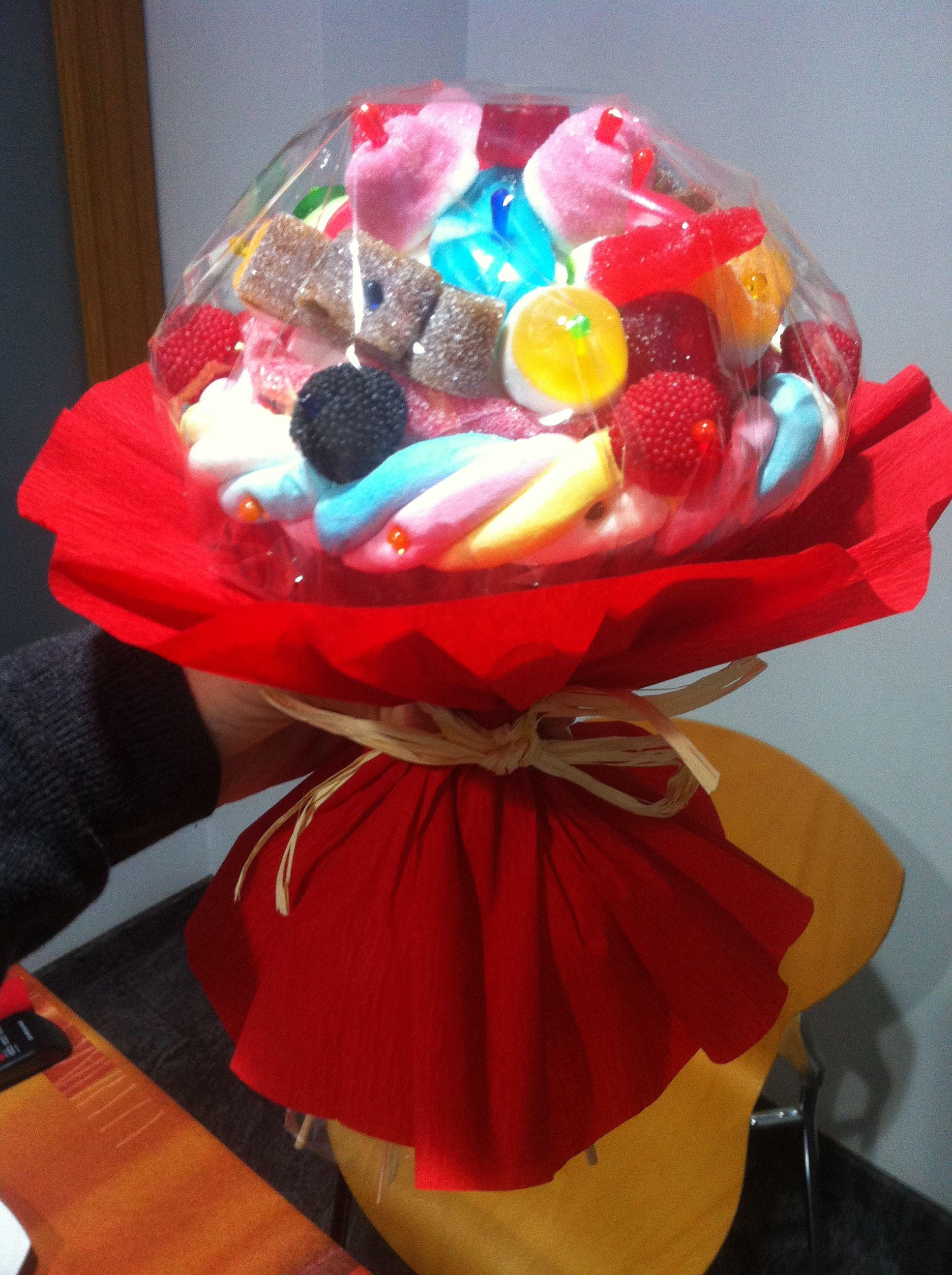 candy gummy bouquet - ramo de gominolas chuches