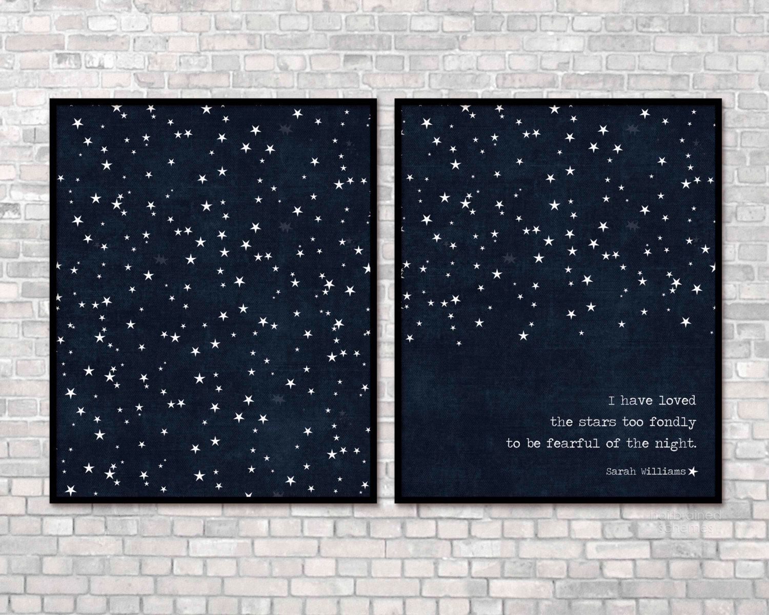 Digital Prints I Have Loved the Stars Too Fondly To Be Fearful of the Night Print/All Stars Dark Navy Blue Stars Modern Universe Poster by hairbrainedschemes on Etsy https://www.etsy.com/listing/105650397/digital-prints-i-have-loved-the-stars