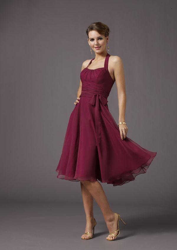 dernier attrayant et durable chaussures élégantes Robe de cocktail prune | Mariage | Robe de demoiselle d ...