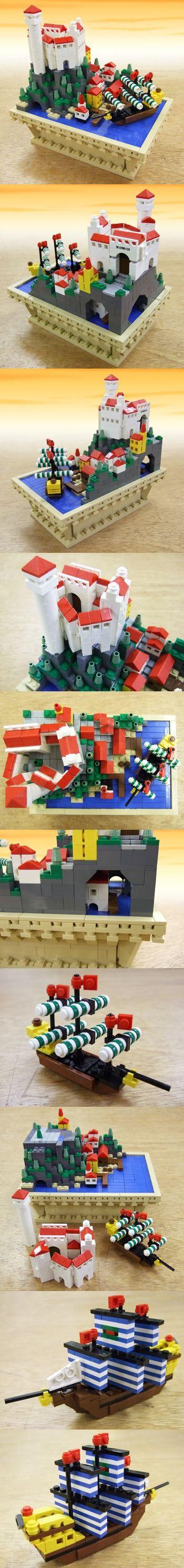 Microscale CASTLE   LEGO, LEGO, LEGO   Pinterest   Castles ...