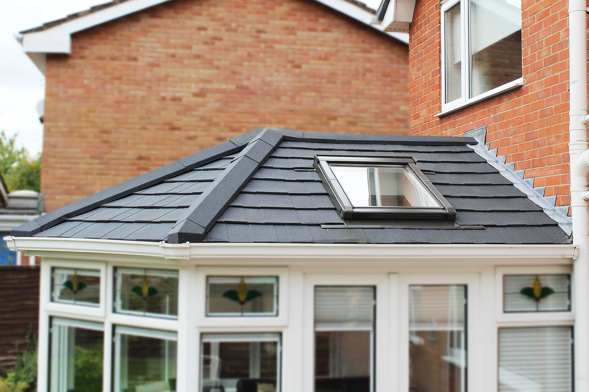 Supalite Roofing A Fantastic Light Weight Solution Offering A Solid Tiled Effect Roofing Option To Your Conserva Roofing Options Conservatory Roof Patio Doors