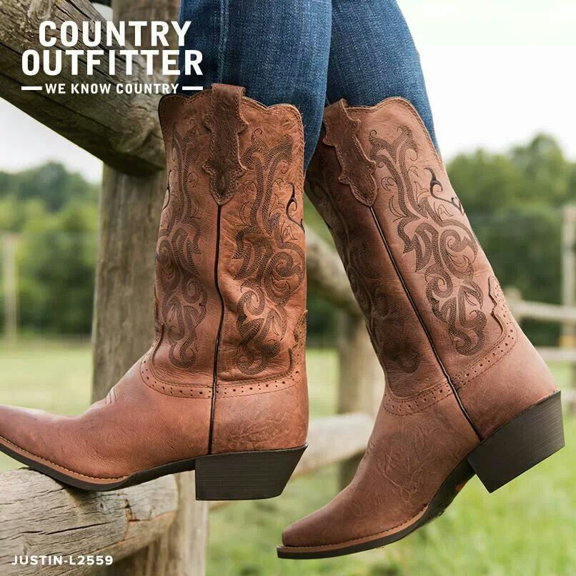 1c014bc32eb Country outfitter justin boot | Cowgirl | Country boots, Boots, Shoe ...