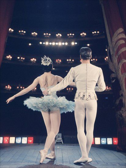"Dame Margot Fonteyn and Michael Somes in ""Cinderella"" at the Royal Opera House, circa 1949."