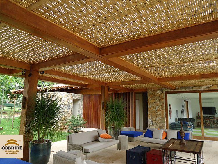 Forro de bambu cobrire constru es em madeira meu - Paredes divisorias ...