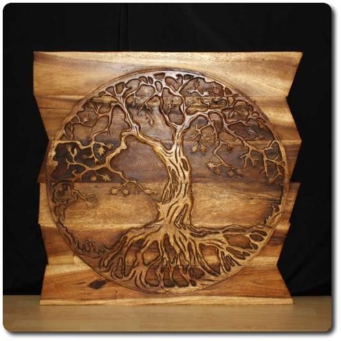 wall panel tree of life wall decor art. Carved Wood ...