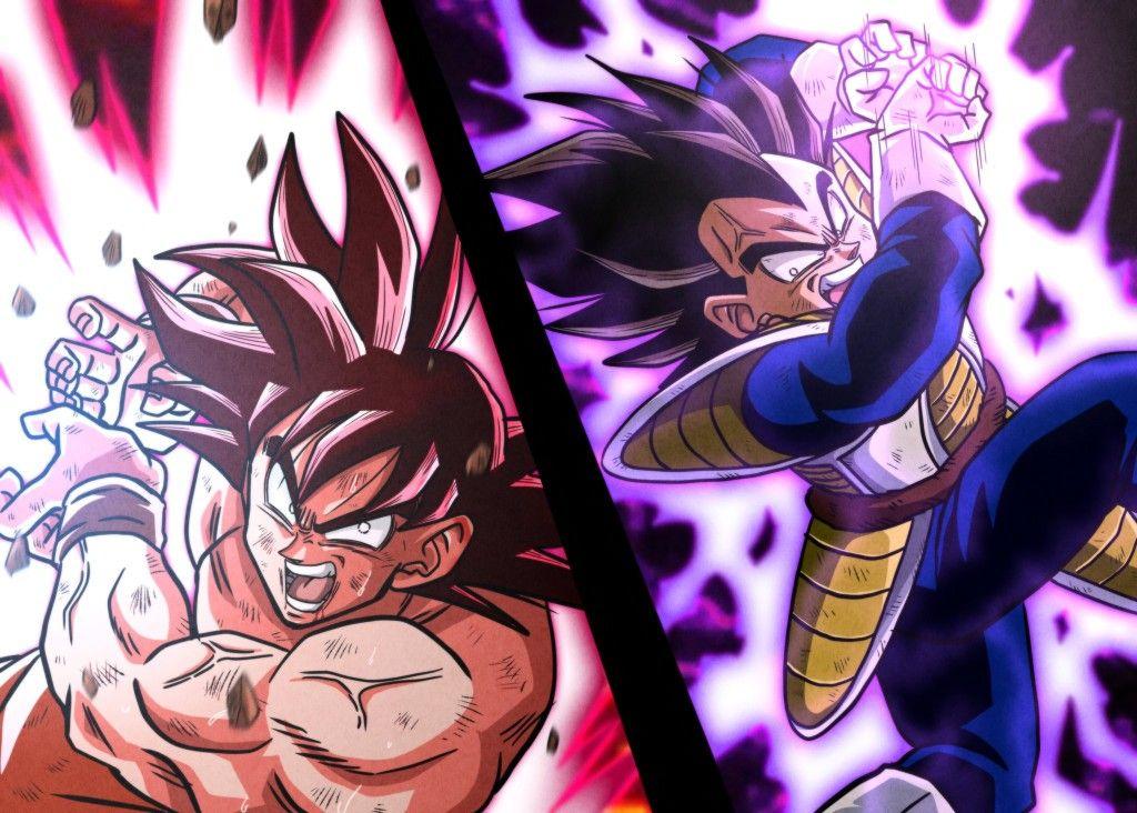 Goku Vs Vegeta Anime Dragon Ball Super Dragon Ball Z Dragon Ball Art