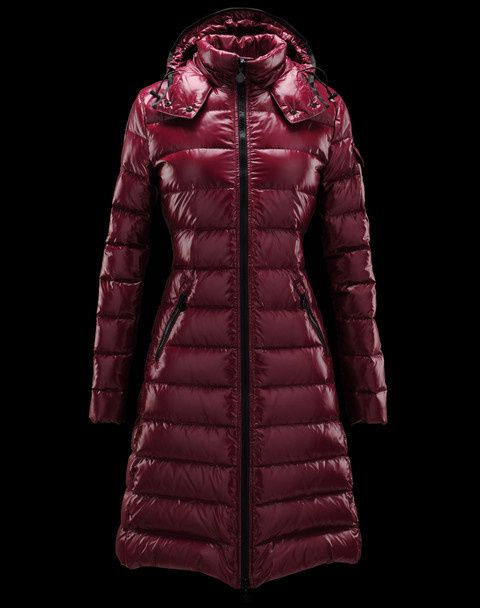 moncler wine red jacket