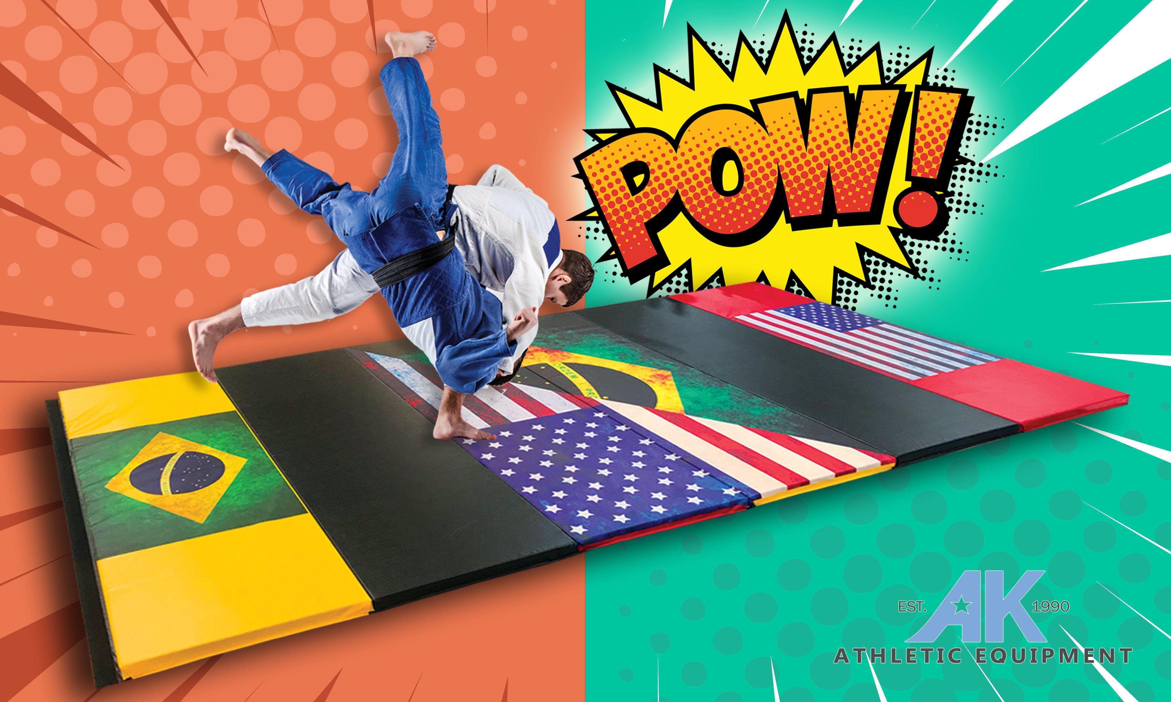 Impact Safe Brazilian Jiu Jitsu Grappling Mat 6' x 12' x 2