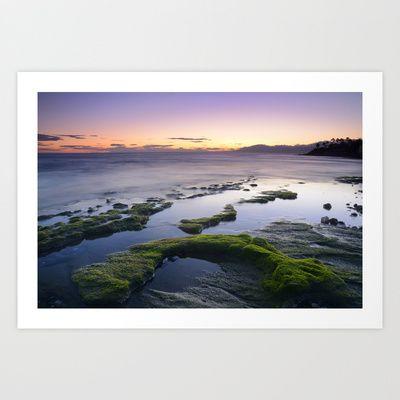 Green coast..... Art Print by Guido Montañés - $19.95