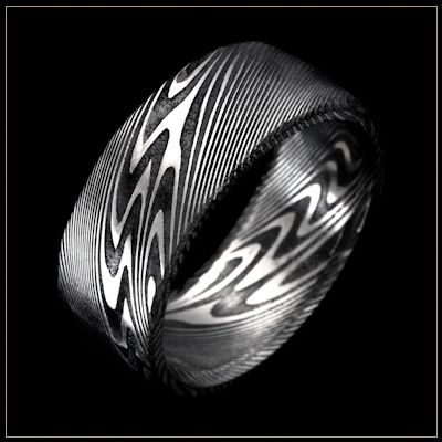 Thor Damascus Steel Mens Wedding Ring Andrew Nyce Designs offers