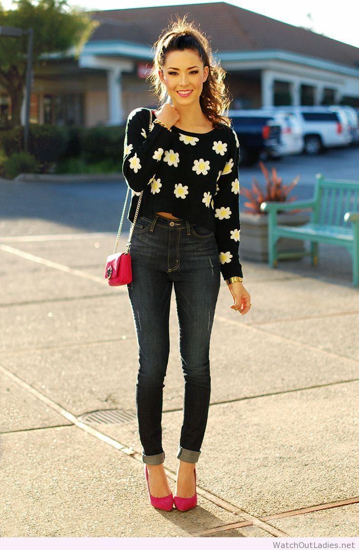 91eba6297d Hapa Time floral blouse and jeans