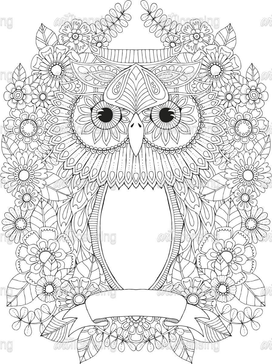 Helang170436 Jpg 897 1200 Painting Owl Colorir