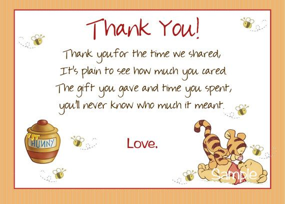 Winnie+the+Pooh+Thank+You+Cards+by+Createphotocards4u+on+Etsy,+$15.00