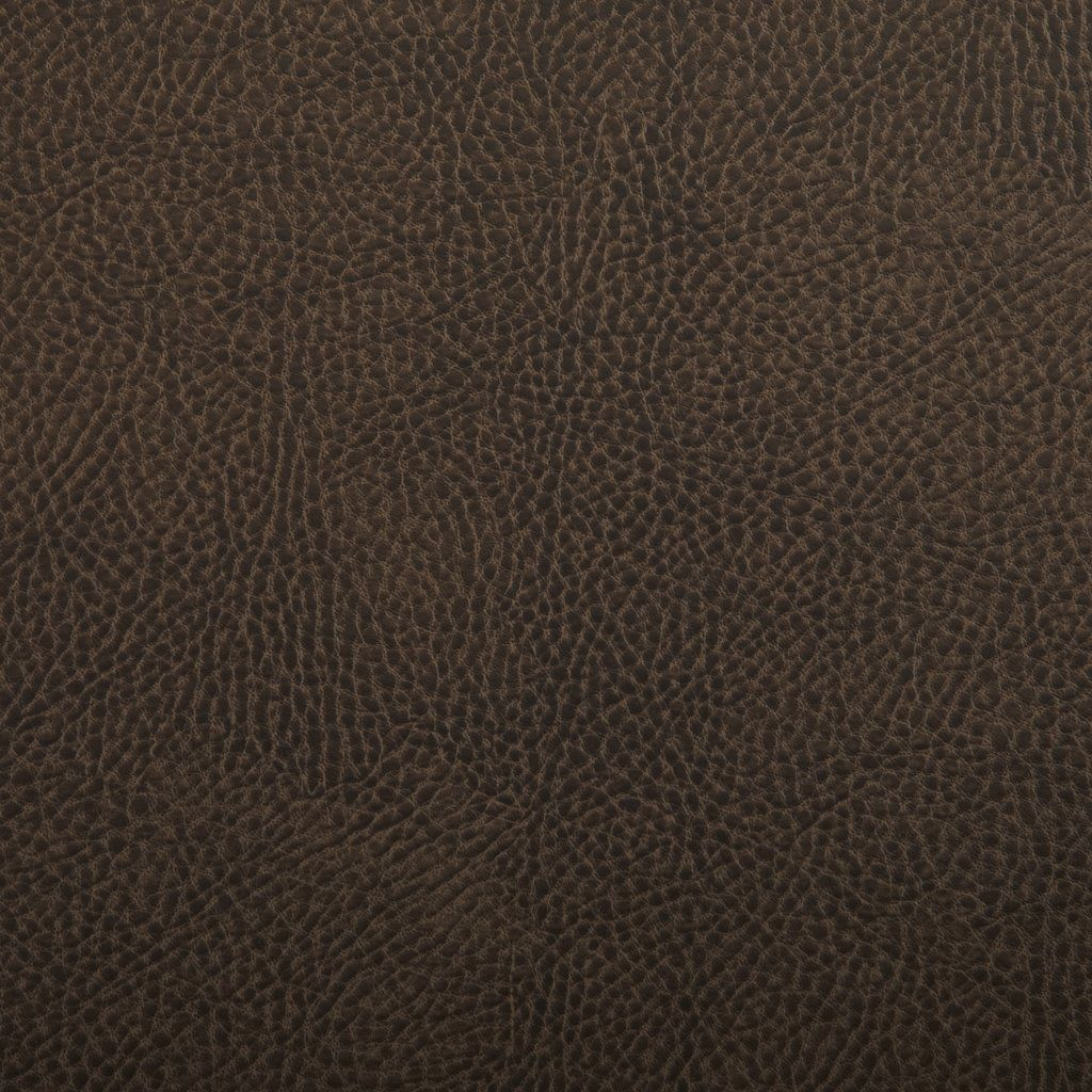 Otter Brown Leather Grain Plain Solid Vinyl Upholstery Fabric