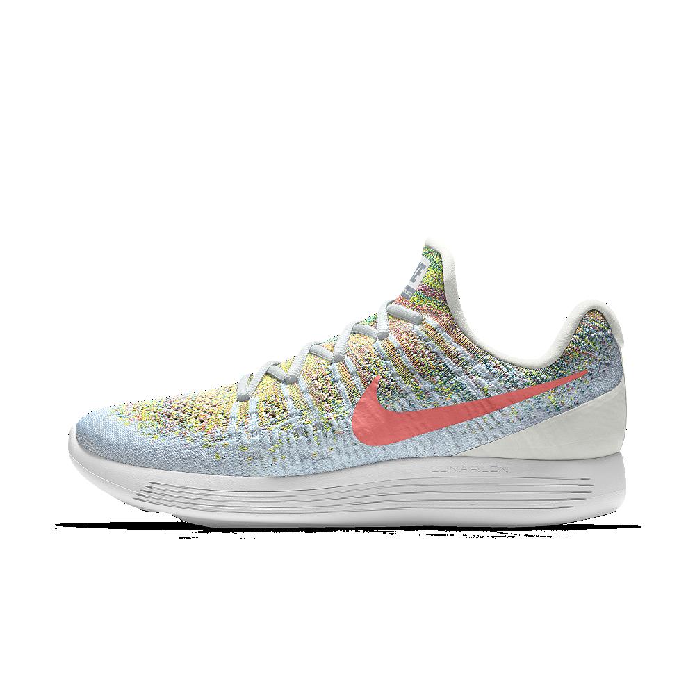 Nike Lunarepic Low Flyknit 2 Id Women S Running Shoe Size 5 5 Pink Nike Womens Running Shoes Running Shoes Nike