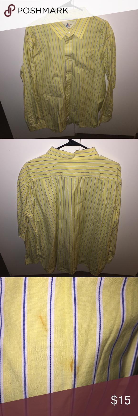 Yellow dress shirt men  Men Yellow Casual Dress Shirt Men XL yellow dress shirt The shirt