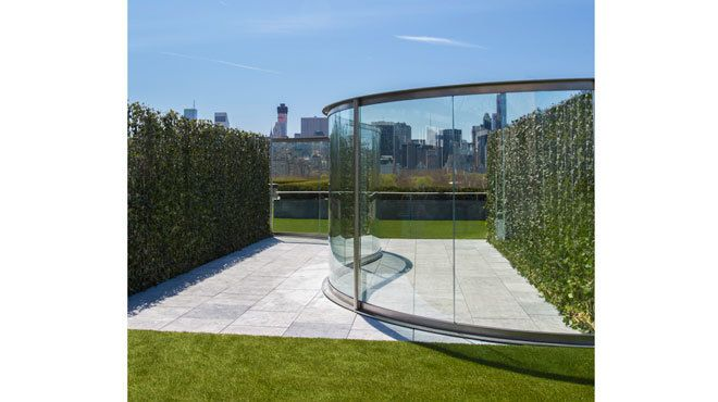 The Metu0027s Latest Rooftop Installation Opens, Featuring Glass, Grass And Lawn  Chairs