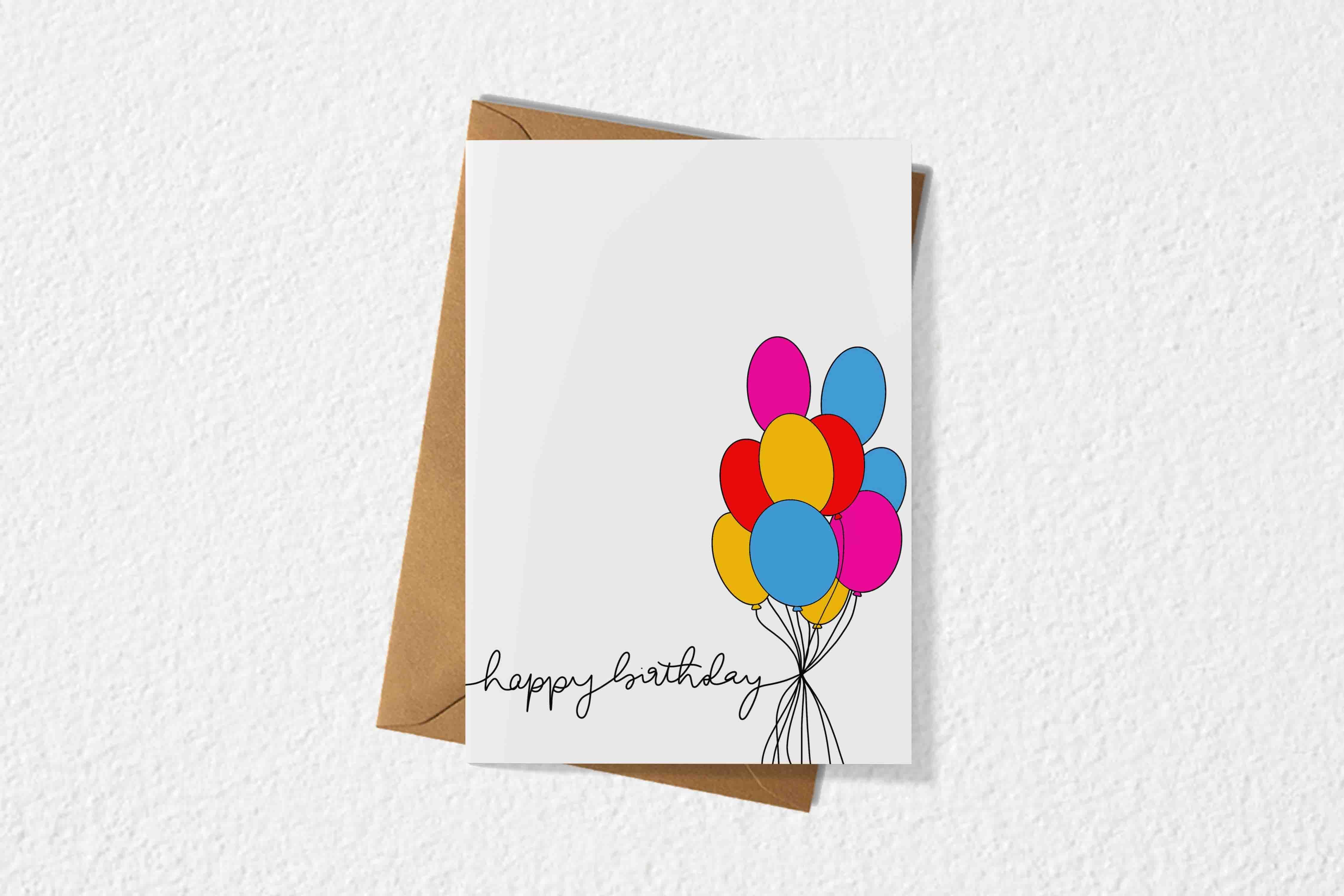 Birthday Card Bundled Balloon Design Birthday Cards Balloon Design Cards