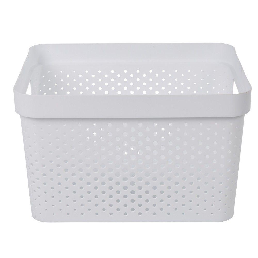 Paniere Bac De Rangement 17 L Blanc Bac De Rangement Boite Rangement Plastique Box De Rangement