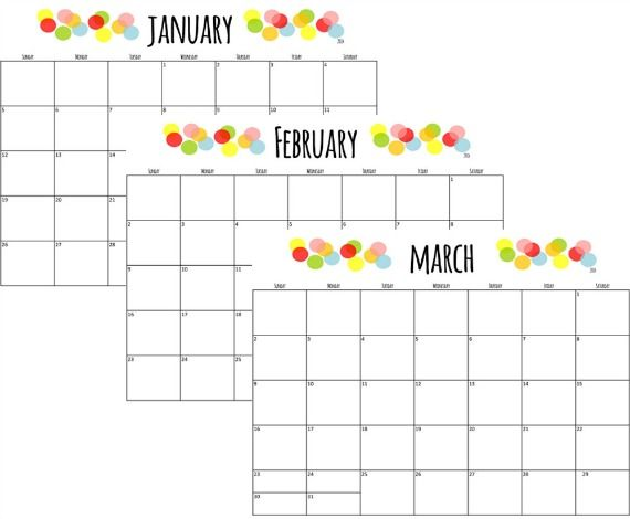 Free  Printable Monthly Calendars  Printable Calendars