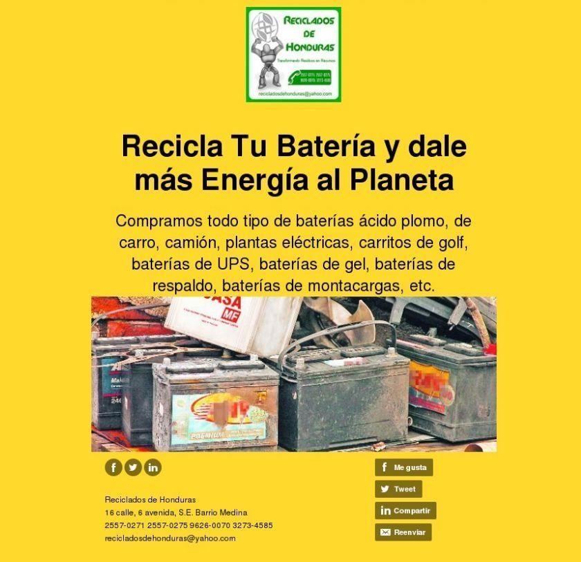 Ayudanos A Mantener Un Mundo Sustentable Reciclando Tu Bateria
