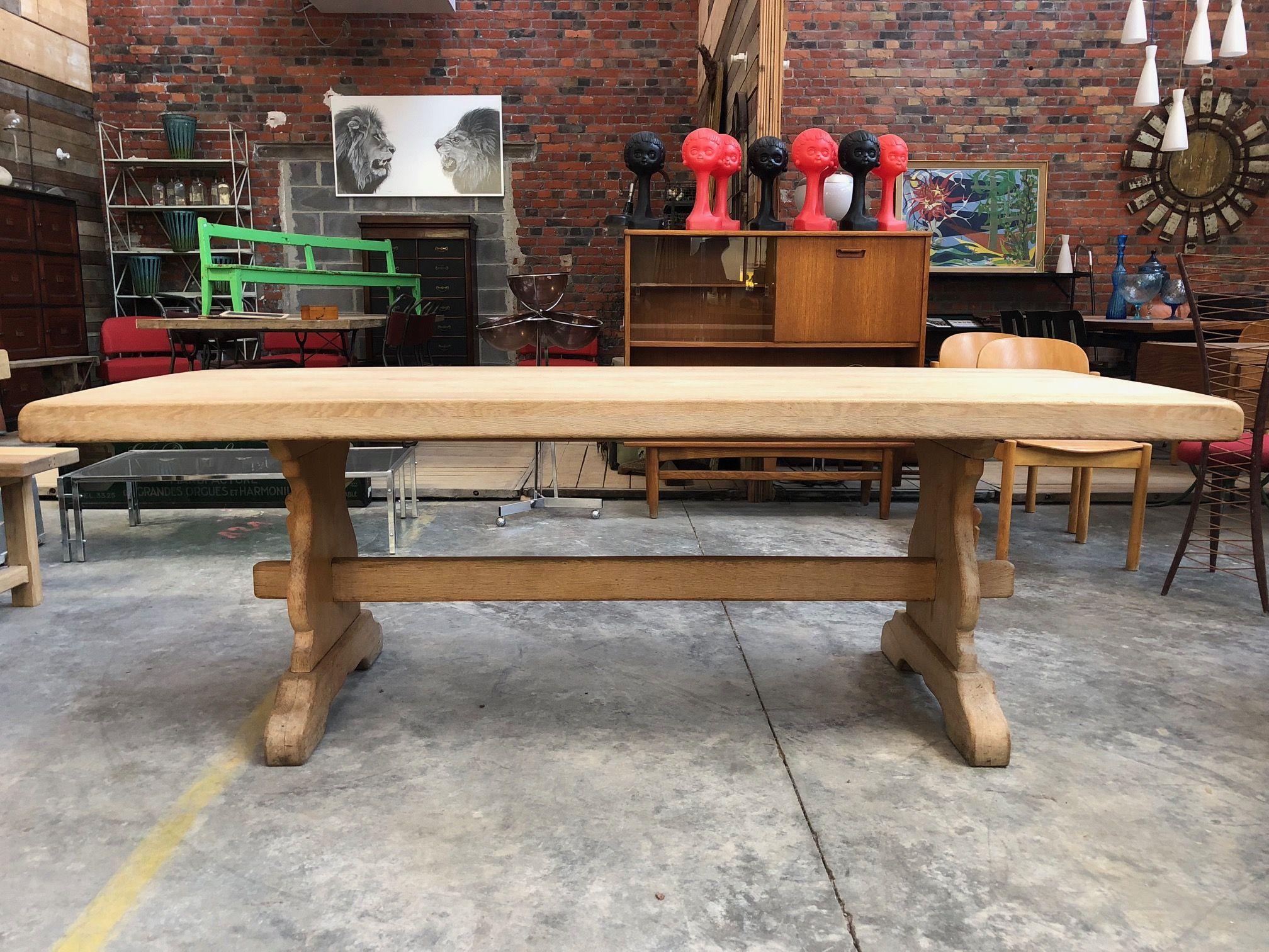 Table de ferme en chêne massif entièrement restaurée   Table de ...