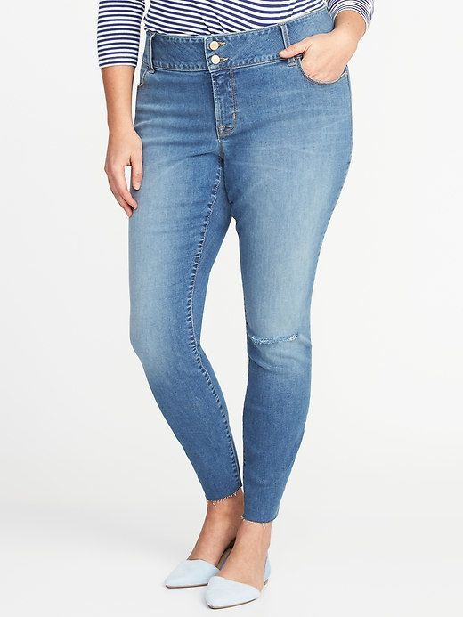 42363efe169 Old Navy Smooth   Slim Plus-Size Built-In Sculpt High-Rise Rockstar Jeans
