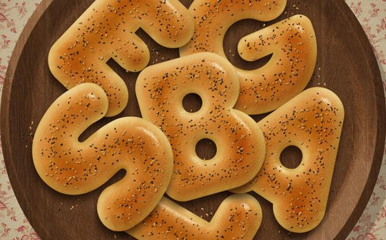Delicious Bagels Text Effect In #Photoshop