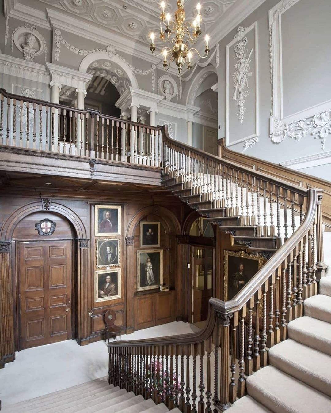 """Home Interior Design Ideas Hall: RUPERT DIXON On Instagram: """"The Magnificent Staircase Hall"""
