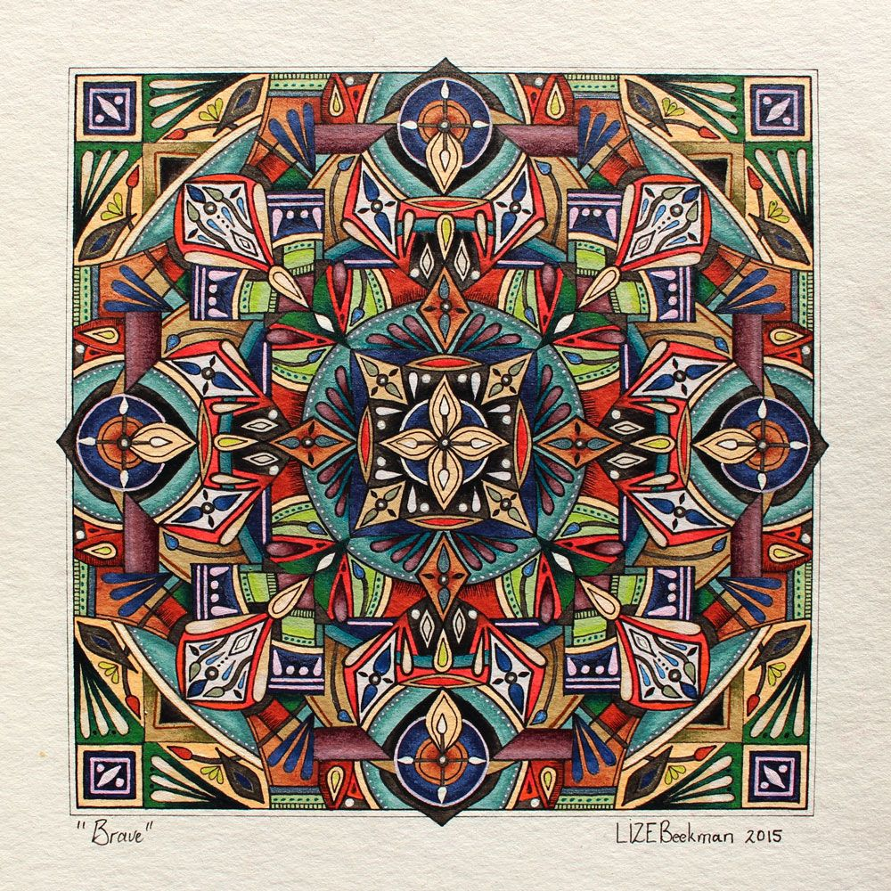 New Mandalas In Lizes ONLINE SHOP Buy Lize Beekman Colouring Books For Adults BOOK 1 2