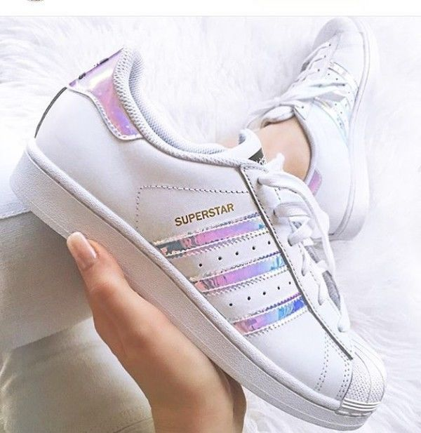 276bba17dc0 Adidas Superstar J White Hologram Iridescent Gs   Ps Aq6278 Girls Youth  Women